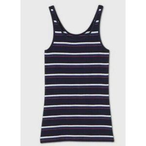 A New Day Womens Striped Sleeveless Tank Top  Navy